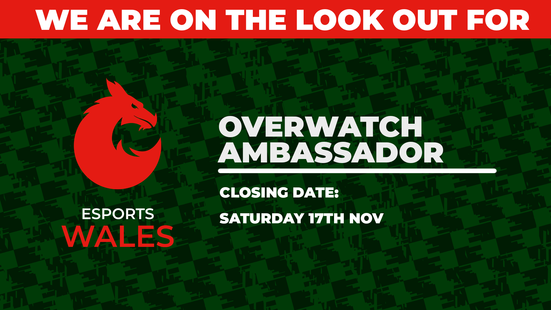 We are looking for a Overwatch Ambassador!